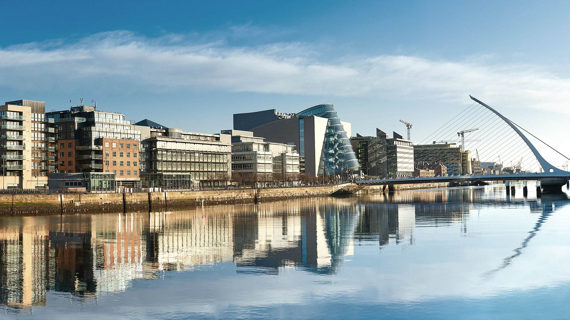 View of Dublin's Docklands and River Liffey